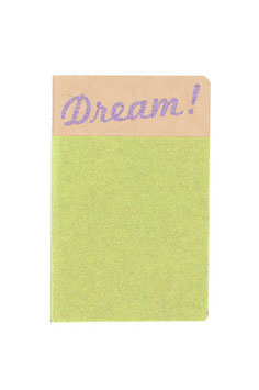 Carnet pailleté format A6 message Dream