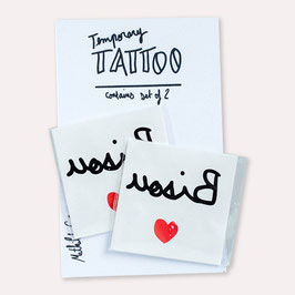2 Tattoos Bisou Mathilde Cabanas