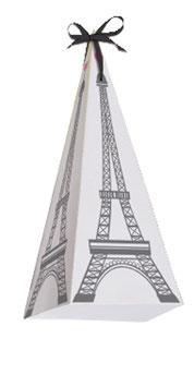 8 Boites à cadeaux invités thème Paris