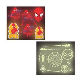 16 planches de stickers Spiderman