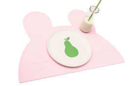 Set de table en silicone lapin rose pastel We might be tiny