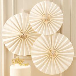 3 Rosaces décoratives ivoires