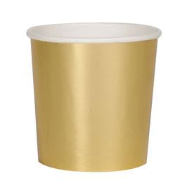 8 petits gobelets dorés meri meri