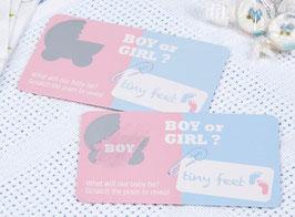 """10 cartes à gratter annonces surprises """"Boy"""""""
