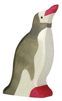 Pingouin en bois tête haute Holztiger