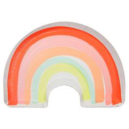 12 Grandes assiettes arc en ciel pastel meri meri