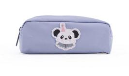 Trousse fond gris clair avec ecusson panda circus Eef Lillemor
