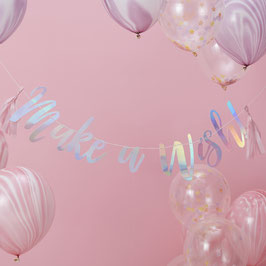 Guirlande irisée Make a wish avec tassel