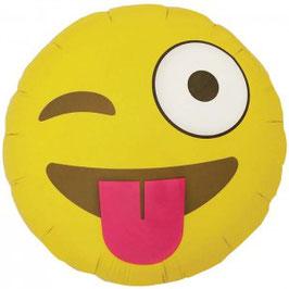 Ballon aluminium Emoji clin d'oeil