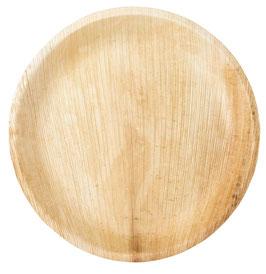 6 Grandes Assiettes en feuille de palmier