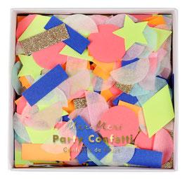 Confettis de table couleurs arc en ciel fluos et pastels meri meri