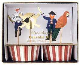 Kit Cupcakes Pirates Meri Meri