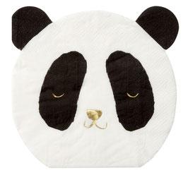 16 Petites Serviettes Panda Meri Meri