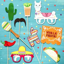 10 Accessoires Photobooth Viva la Fiesta Mexicain