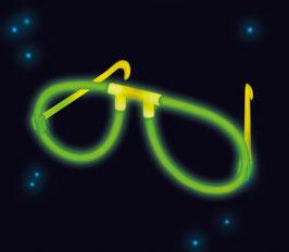 2 paires de lunettes lumineuses vert fluorescent