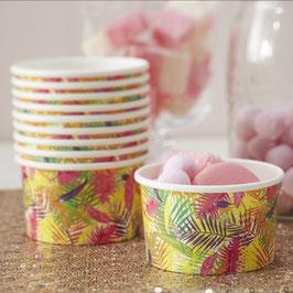 8 coupes à glace décoration flamant rose