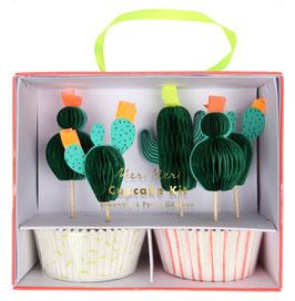 Kit 24 caissettes et 24 cake toppers cactus meri meri