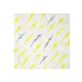 16 petites serviettes fond blanc superhero Meri Meri