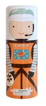 """Tirelire et puzzle """"Astronaute dans l'espace"""" marque Petit Collage"""