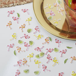 Confettis de table pour decoration fête flamant rose