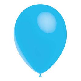 10 ballons bleu ciel en latex