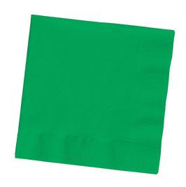 20 serviettes en papier vert