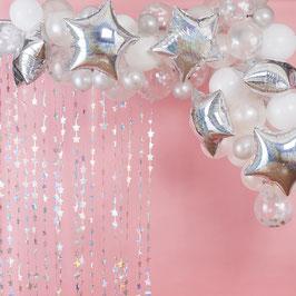 Kit Arche Ballons Irisés et Blancs