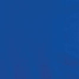 20 serviettes en papier bleu électrique