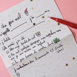 Lettre au Père Noel Mathilde Cabanas