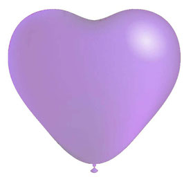 10 ballons coeurs lilas en latex