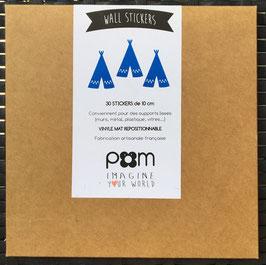 Stickers muraux tipis bleus Pom le bonhomme