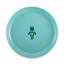 Assiette bleue Robot Super Petit