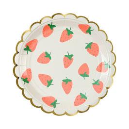 8 petites assiettes fraises meri meri