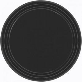 8 assiettes en carton coloris noir
