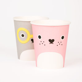 8 gobelets en carton personnages Noodoll my little day