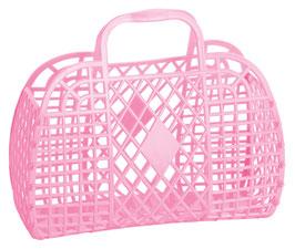 Petit Panier rétro en plastique rose Bubblegum
