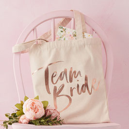 Tote Bag Evjf Team Bride Rose Gold