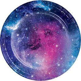 8 Petites Assiettes Galaxie 18 cms