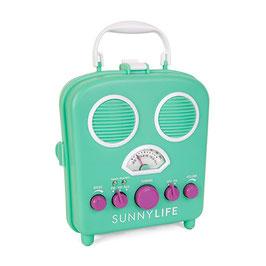 """Radio de plage et amplificateur """"Beach sound"""" turquoise violet Sunnylife"""
