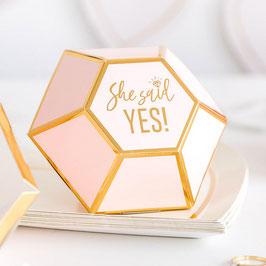 "10 Boites Cadeaux Evjf Diamant ""She said Yes! """