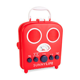 "Radio de plage et amplificateur ""Beach sound"" rouge Sunnylife"