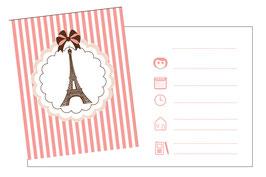 8 Invitations anniversaire thème Paris