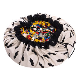 Sac de rangement et tapis de jeu Mr Moustache Play and go