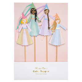 4 cake Toppers Princesses Magiques Meri Meri