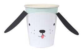 8 gobelets chien Meri Meri