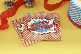 "20 Serviettes en papier ""Happy birthday"""