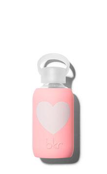 Bouteille Elle coeur rose pastel coeur blanc 500 ml