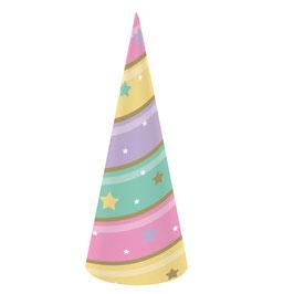 8 chapeaux pointus cornes de licorne