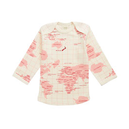TSHIRT ML PRINT ATLAS ROSE EN COTON BIO