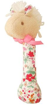 Hochet cheval et fleurs Alimrose